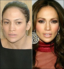 Jennifer Lopez bez make-upu